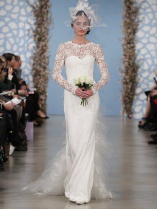 Abito sposa dritto Oscar de la Renta 2014
