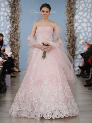 Abito sposa rose Oscar de la Renta