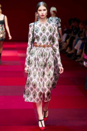 Abito stampato Dolce & Gabbana primavera estate 2015
