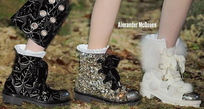 Alexander McQueen scarpe catalogo autunno inverno 2014 2015