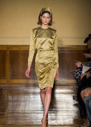 Andrea Incontri collezione autunno inverno 2013 2014 abito oro