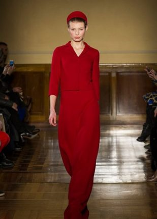 Andrea Incontri collezione autunno inverno 2013 2014 abito rosso