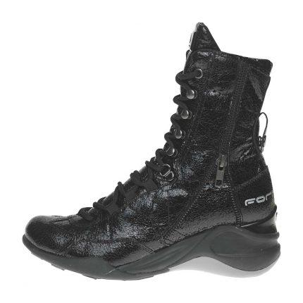 Anfibi neri Fornarina scarpe autunno inverno 2015