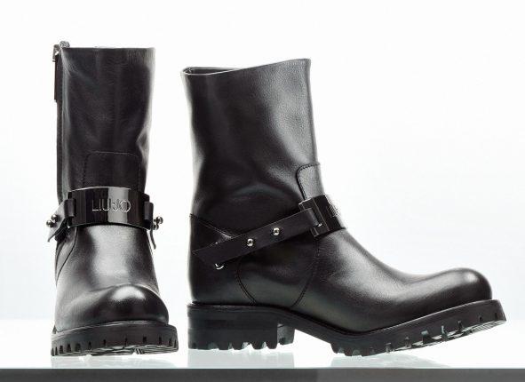 Anfibi neri Liu Jo scarpe autunno inverno 2015
