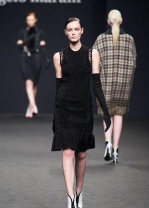 Angelo Marani collezione autunno inverno 2013 2014 abito nero