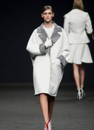 Angelo Marani collezione autunno inverno 2013 2014 capotto bianco