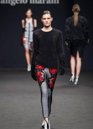 Angelo Marani collezione autunno inverno 2013 2014 pantaloni maglione
