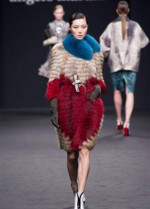 Angelo Marani collezione autunno inverno 2013 2014 pelliccia