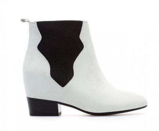 Ankle boot bicolor Zara autunno inverno 2013 2014