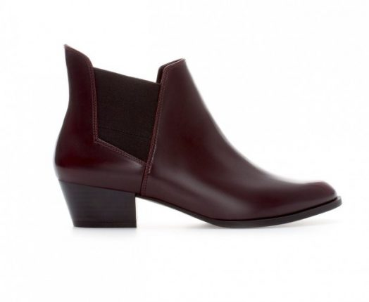 Ankle boot bordeaux Zara autunno inverno 2013 2014