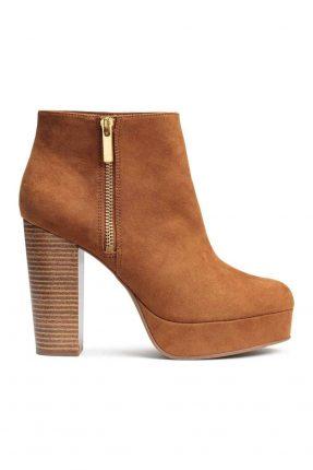 Ankle boot con plateau alto H&M autunno inverno 2017.