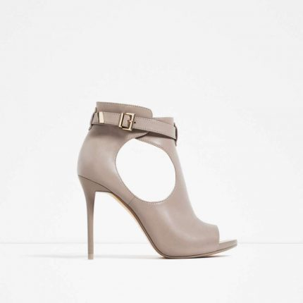 Ankle boot cut-out Zara autunno inverno 2017