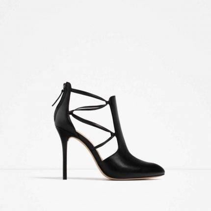 Ankle boot lace-up Zara autunno inverno 2017