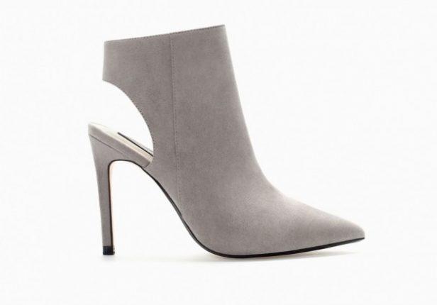 Ankle boot scamosciati Zara scarpe autunno inverno 2015