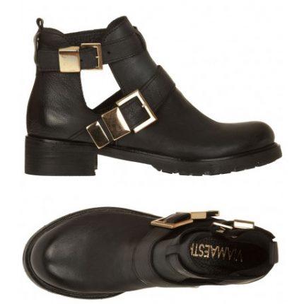 Ankle boots con ritagli Viamaestra scarpe autunno inverno 2014 2015