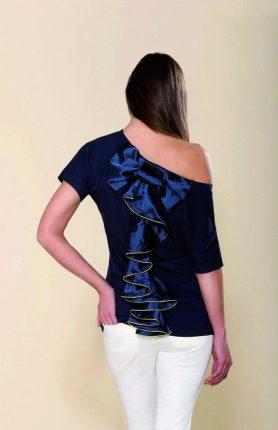 Artigli maglietta blu Primavera Estate