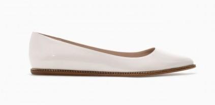 Ballerine bianche Zara scarpe autunno inverno 2015
