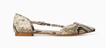 Ballerine in rettile Zara scarpe autunno inverno 2015