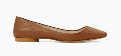 Ballerine marroni Zara scarpe autunno inverno 2015