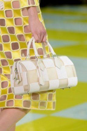 Bauletto beige e bianco Louis Vuitton primavera estate 2013