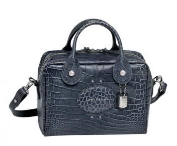 Bauletto blu in rettile Longchamp