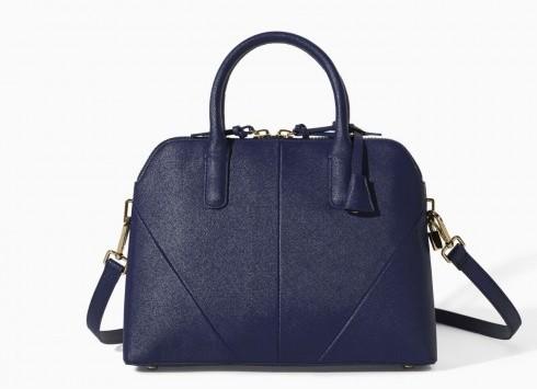 Bauletto blu Zara borse autunno inverno 2015