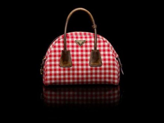 Bauletto damier rosso borse Prada 2014