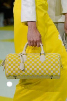 Bauletto giallo e bianco