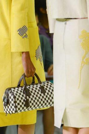 Bauletto marrone e bianco Louis Vuitton primavera estate 2013