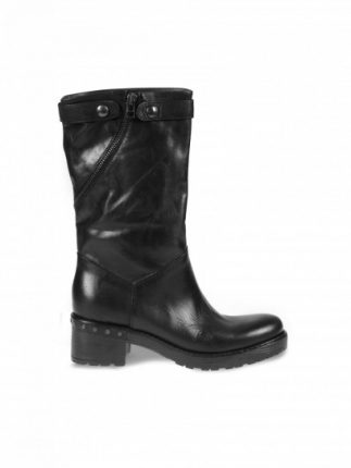 Biker boot neri Janet & Janet scarpe autunno inverno 2015