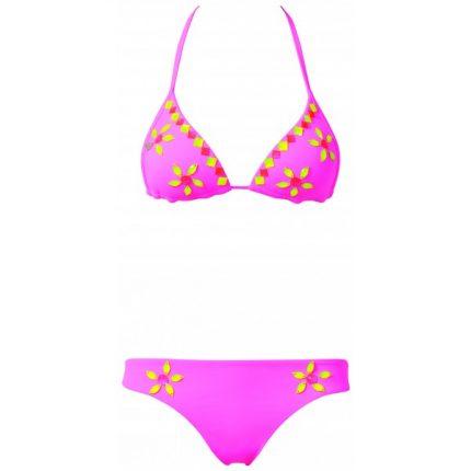 Bikini con fiori ricamati Calzedonia estate 2014