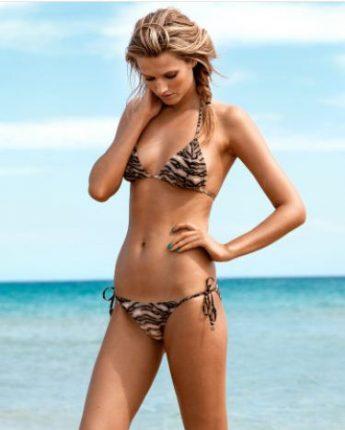Bikini con reggiseno a triangolo stampa animalier HM estate 2013