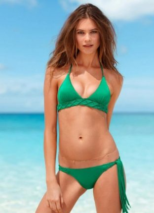 Bikini con triangolo verde smeraldo Victorias Secret estate 2013