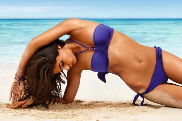 Bikini fascia viola con perline Calzedonia Estate 2013