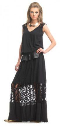 Black dress con fiori laser Fornarina primavera estate 2013