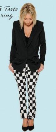 Blazer e pantaloni con stampa damier Sandro Ferrone