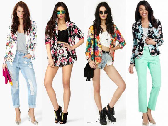 Blazer Floreale tendenza moda 2013