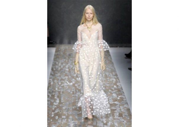 Blugirl collezione autunno inverno 2013 2014 abito bianco