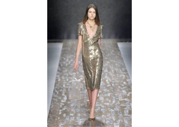 Blugirl collezione autunno inverno 2013 2014 abito oro