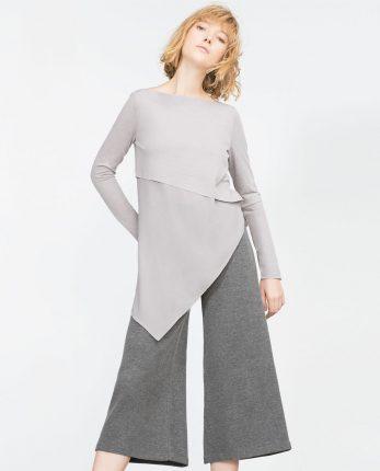 Blusa assimetrica Zara primavera estate