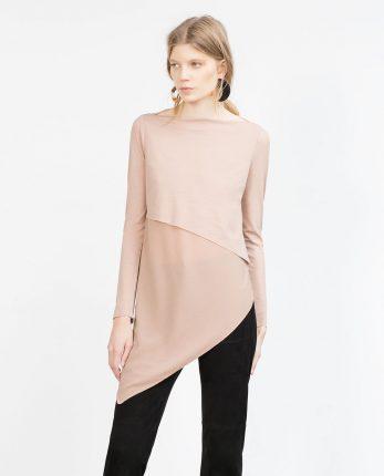 Blusa Geometrica Zara