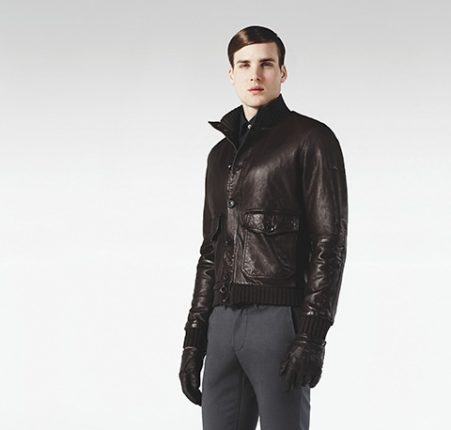 Bomber in pelle Peuterey autunno inverno 2013 2014