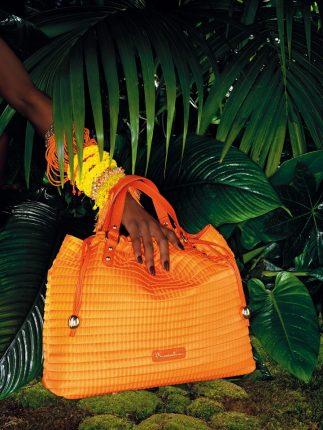 Borsa a mano arancione Braccialini primavera estate 2013