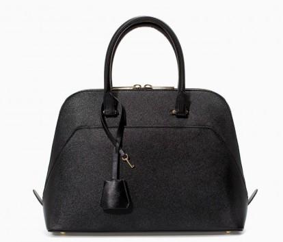 Borsa a mano nera Zara borse autunno inverno 2015