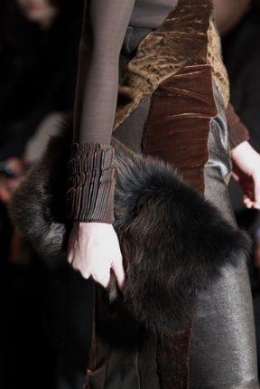 Borsa pelliccia Calvin Klein autunno inverno 2013 2014