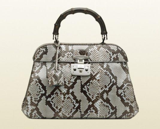 Borse Gucci autunno inverno 2013 2014 handbag pitone chiaro
