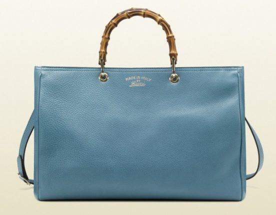 Borse Gucci autunno inverno 2013 2014 shopper pelle azzurra