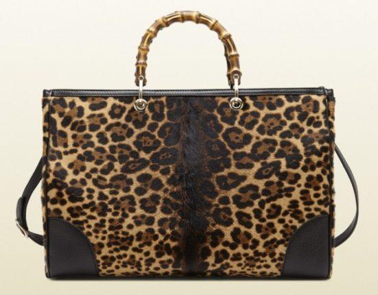Borse Gucci autunno inverno 2013 2014 shopper stampa giaguaro