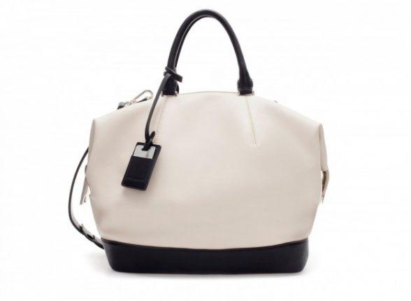 Borse Zara autunno inverno 2013 2014 borsa bianca nera