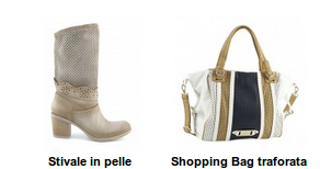 Cafenoir stivali in pelle e borsa shopping bag traforata primavera estate 2013